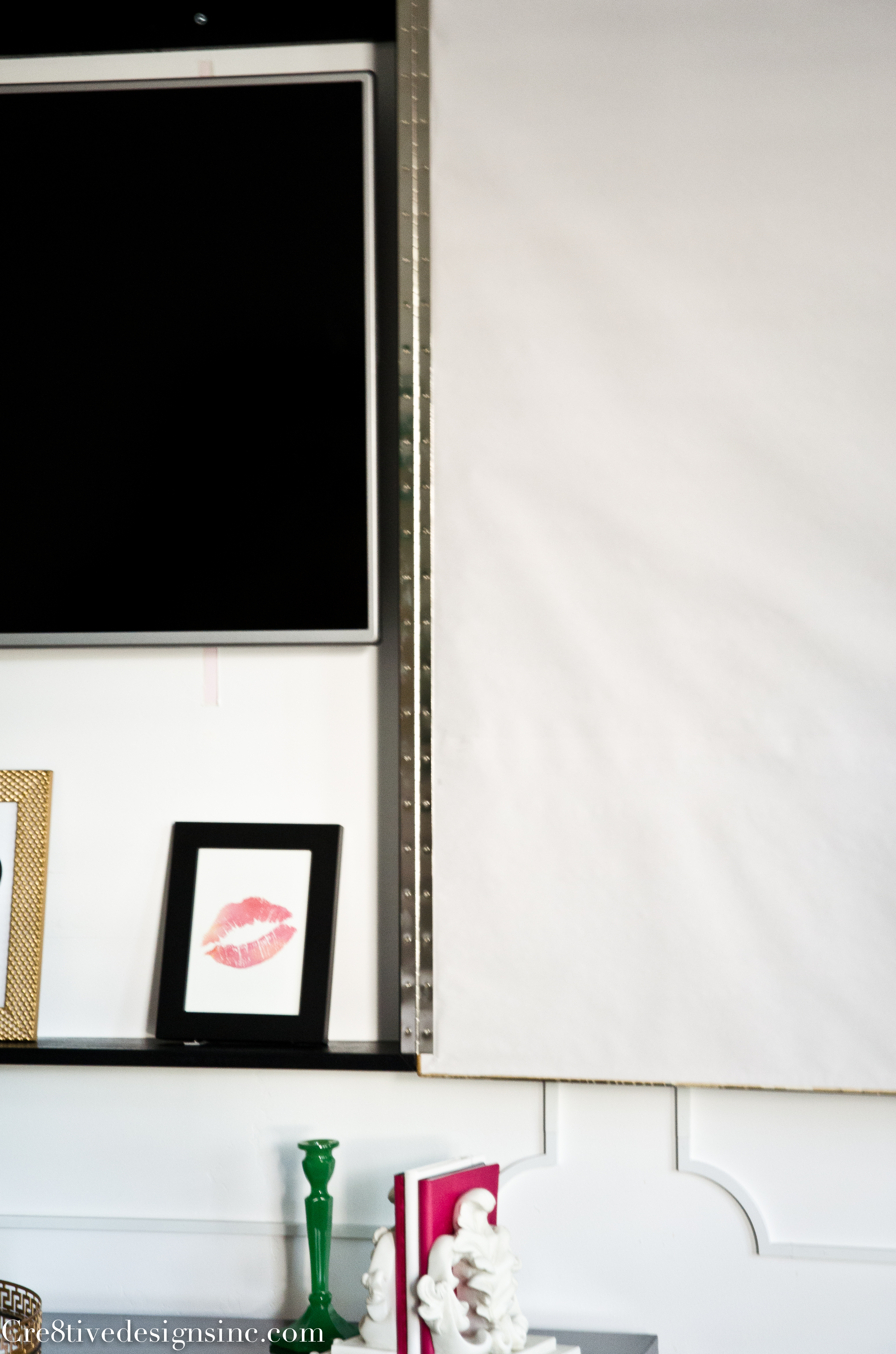 how to hide a flat screen tv with artwork cre8tive designs inc