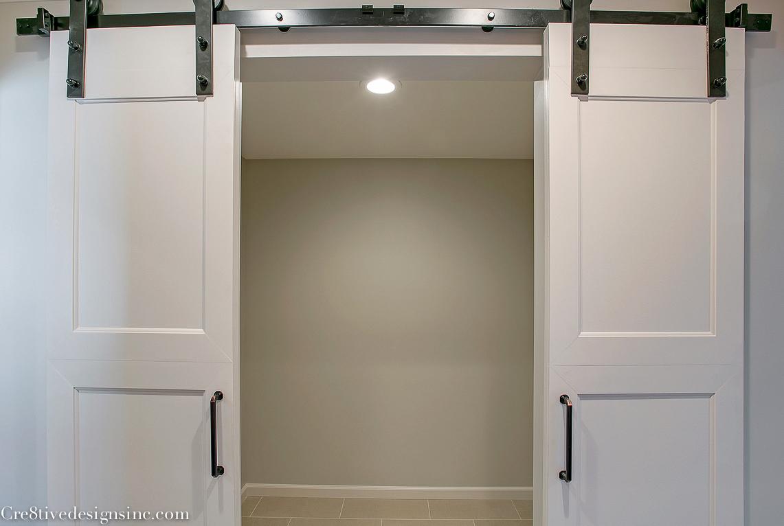 Closet barn door & Master bath remodel - Cre8tive Designs Inc.