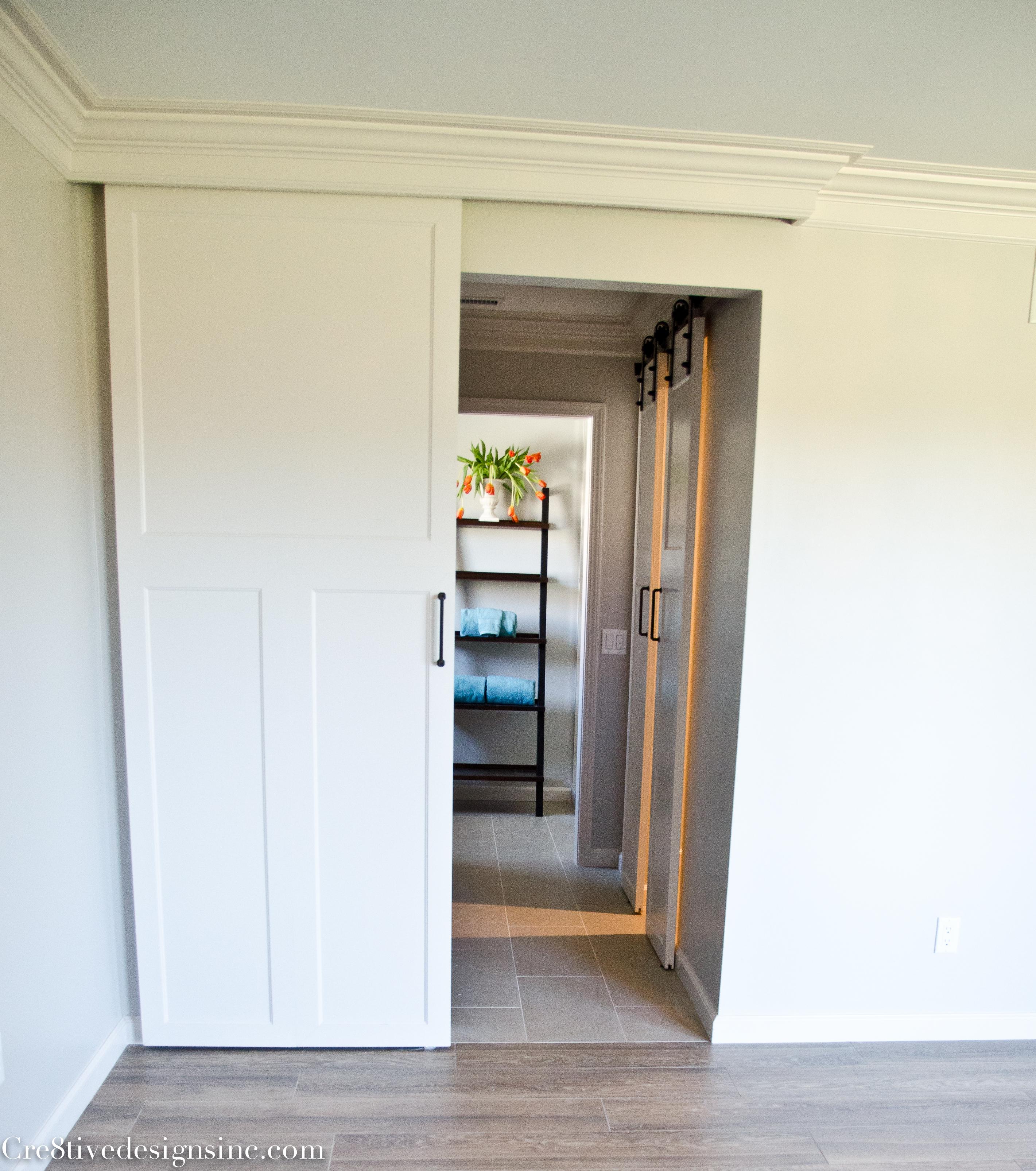 porter wall doors barn divider door bathroom shower corrugated interior room ideas sliding for old hardware